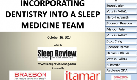 dental sleep medicine webcast